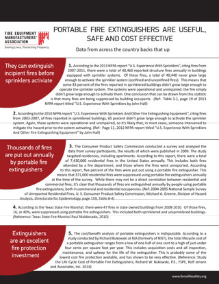 Portable Fire Extinguisher Fact Sheet (PDF)