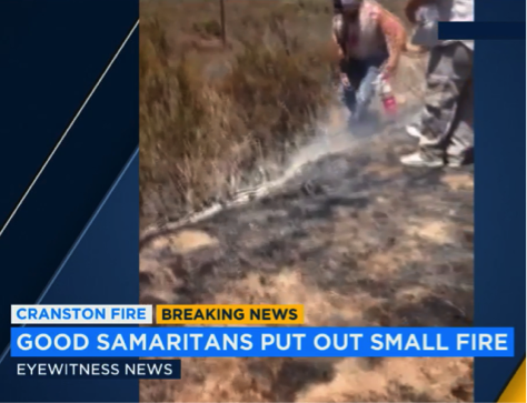 Good Samaritans put out fire with extinguisher - Fire