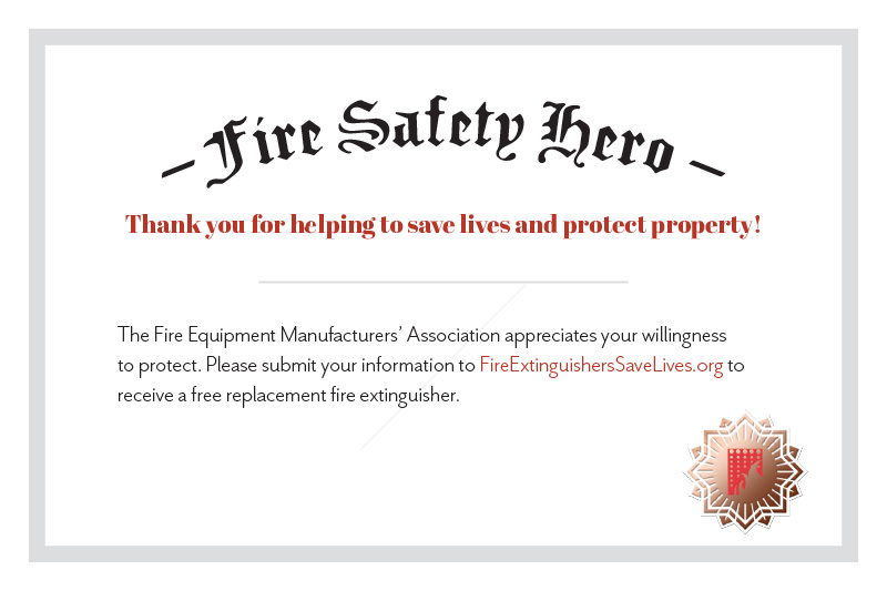Fire Safety Hero Award